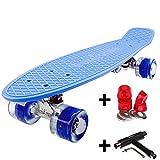 FunTomia Miniboard 57cm Skateboard mit oder ohne LED Leuchtrollen...