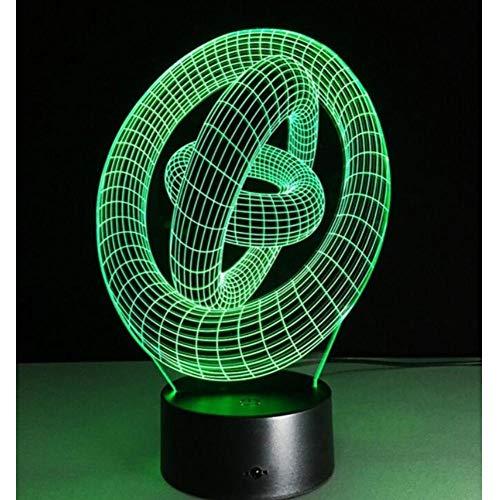 Kreatives Spielzeug 3D LED Nachtlampe ABS Touch Base Abstrakte Spirale Birne Lampe LED Nachtlicht Tisch Illusion Home Bar Schreibtisch Dekorative Lava Lampe S7-Farbkonvertierung