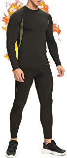 STARBILD Men's Winter Fleece Lined Thermal Underwear Tops, Quick Dry Long Johns for Workout (Selling Separately)