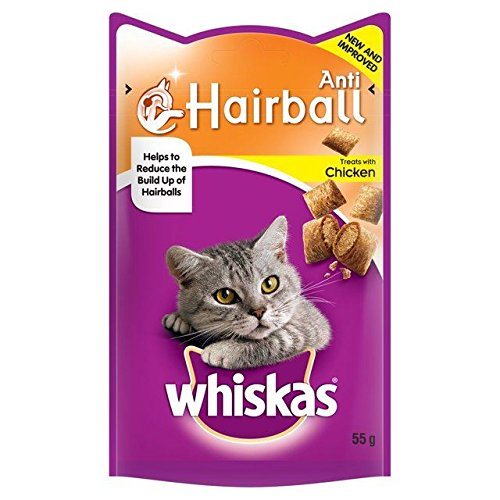 Whiskas Anti-Hairball Cat Treats 55g (Confezione da 2)