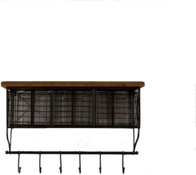 FLHAINVER American Country Simple Wrought Iron Kitchen New sales Max 42% OFF Bedr Rack