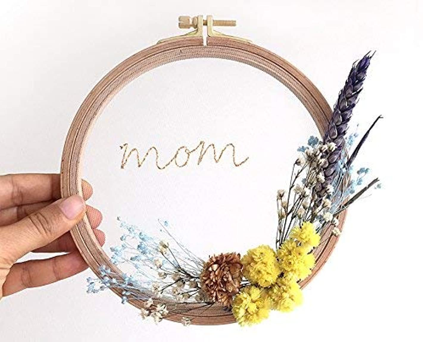Mothers Day Personalized, Mom Gift, Embroidery Hoop, Flower Wreath, Hoop Art, Mother's Day Gift, Gift For Grandma, Mama Gift Idea, Plant Mom