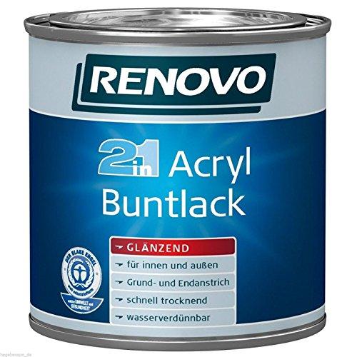 2,5 Liter RENOVO Acryl Buntlack glänzend WEISS