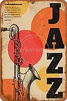 ジャズウォールメタルポスターレトロプラーク警告ブリキサインヴィンテージ鉄絵画装飾庭の寝室のガレージバーのための面白いハンギングクラフト
