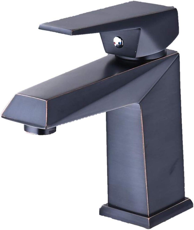 Lrsny Black,faucet,copper,bathroom,bathroom,hot and cold,single handle,single hole