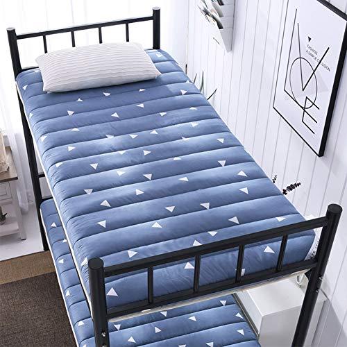 Futon Mattress Colchón Plegable del Dormitorio del Estudiante, colchón de Tatami Plegable Individual Cama de literas con...