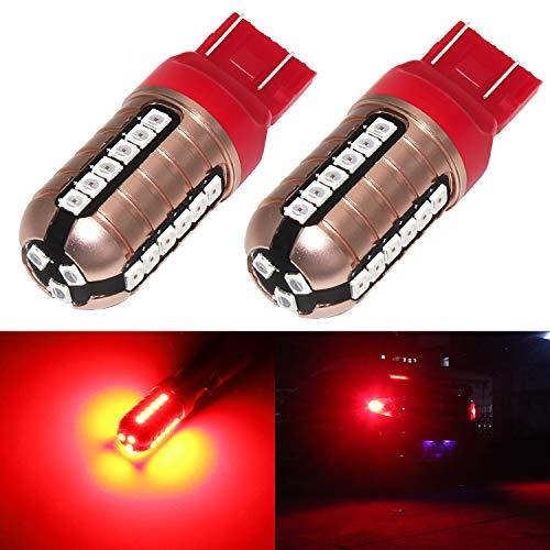 Phinlion 7443 7444 Red LED Brake Tail Light Bulb Super Bright 3030 27-SMD 7440 7441 7443 LED Bulbs for Stop Brake Turn Signal Blinker Lights