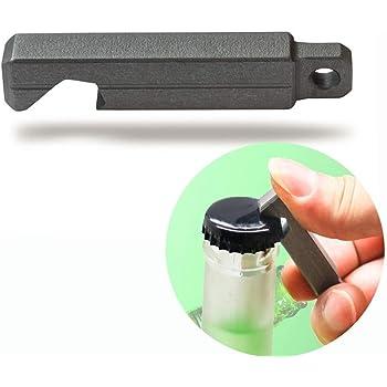 ボトル栓抜き ビールオープナー チタン製ミニ栓抜き びん蓋開け キーホルダー シンプルキャップオープナー 軽量 省力 携帯型