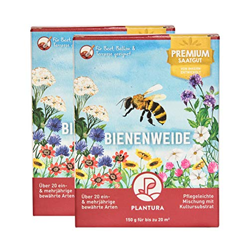 Plantura Bienenweide, 300 g, EIN- & mehrjährige Bienensamen - auch für Hummeln, Premium-Saatgut für Beet & Topf