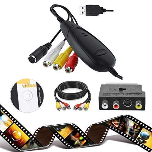 [Set 3] Capturadora Video y Audio a PC para Win10, USB2.0 DVD...