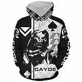 Cayde 6 Hoodie Pullover Sweatshirt Game Cosplay Costume Zip Up Jacket for Unisex (Large, Black)