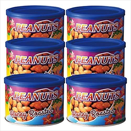 タヒチ ハニーロースト ピーナッツ 6缶セット【タヒチ おみやげ(お土産) 輸入食品 スナック ナッツ 】