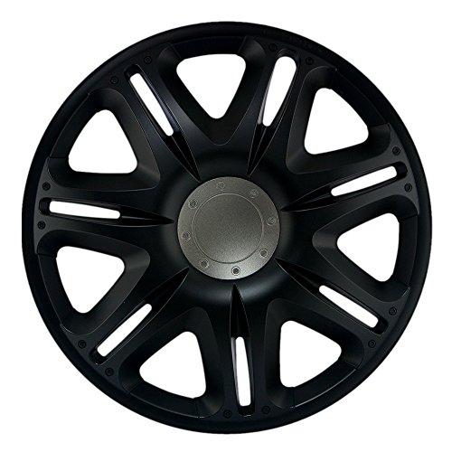 CM DESIGN 15 Zoll Nascar schwarz Radkappen Radzierblenden Radblenden für Fast jeden Fahrzeugtyp