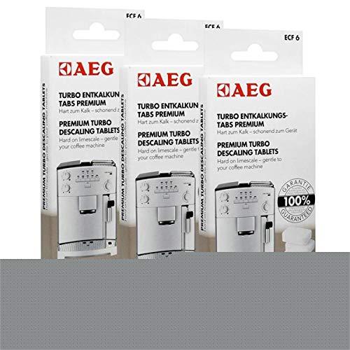 3x AEG ECF 6 Turbo Entkalkungs Tabs für Ihren Kaffeevollautomaten (4 Tabs)