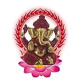 Resina Ganesh hidu Elefante Estatua Elefante Buda Figura Dios del éxito Ornamento Decorativo para Coche de Oficina en casa,a