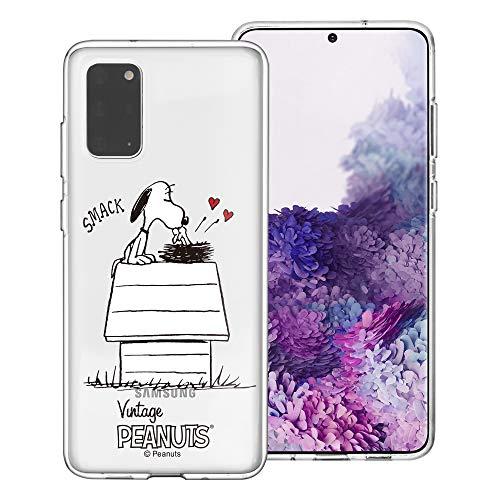 Galaxy S20 Ultra Case PEANUTS Clear TPU Leuke zachte gelei Cover voor [ Galaxy S20 Ultra (6.9inch) ] hoesje Smack Snoopy Vogels (Galaxy S20 Ultra)