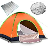 GLXQIJ 2-4 Person Instant Automatic Pop Up Tent,Waterproof Double Layer Camping Ultralight Backpacking