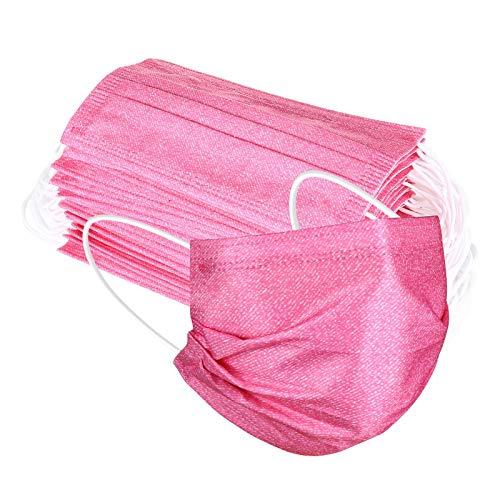 50 Piezas Once_3_capas_mascarillas Con Estampado De Mezclilla De 5 Colores Respirable Moda