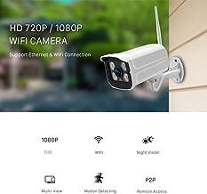 Bullet Surveillance Cameras,Wireless WiFi IP Camera Outdoor 1080P 2MP Home Security Cameras