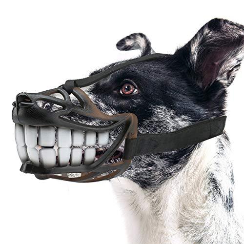 Anjing Verstellbarer Maulkorb für kleine oder mittelgroße Hunde, weich, bequem, lächelndes Design, um Beißen zu verhindern