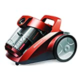 REDMOND Canister Bagless Dual Cyclonic HEPA Filtration Vacuum Cleaner, 1200W (Red)
