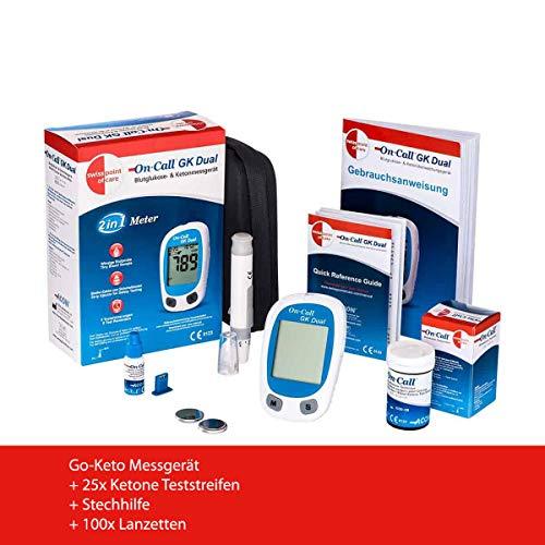 Swiss Point Of Care GK Dual azúcar en la sangre y cetonas Starter pack | 1...