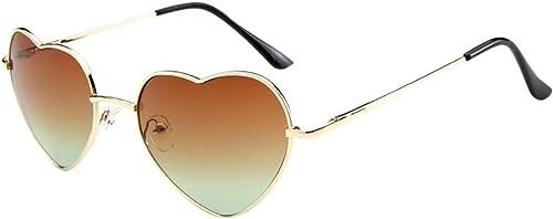 high quality Heart Sunglasses for Women Metal Frame Lovely Aviator popular Style Eyewear UV Protection Non-polarized Sun high quality Glasses online sale
