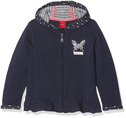 s.Oliver s.Oliver Baby-Mädchen 65.708.43.4957 Sweatshirt, Blau (Tintenblau 5815), 74