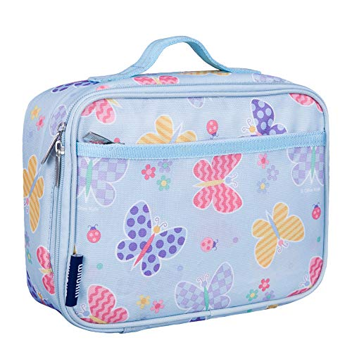 Wildkin Kids Insulated Lunch Box for Boys and Girls, Perfect Size for Packing Hot or Cold Snacks for School and Travel, Mom's Choice Award Winner, BPA-free, Olive Kids (Butterfly Garden)