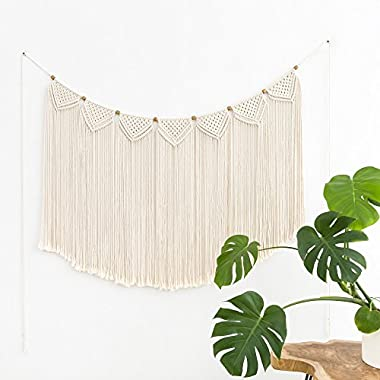 Mkono Macrame Curtain Wall Hanging Banner, 28 3/4 W x 46 1/2 L