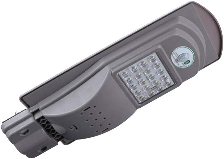 OSALADI 20W LED Solarstraenlaterne integriertes menschliches Krper-Sensor-Licht im Freien an der Wand befestigtes Licht