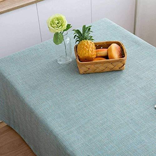 LBBZJM Mantel Protector Rectangular TableclothTable Cubierta Adecuado Lavable Antiarrugas Anti-Fading Color sólido for Cocina Comedor Mesa Decoración-140x180cm (55x71inch) -S