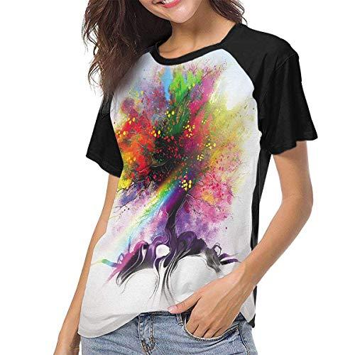 fenglinghua Frauen Kurzarm T-Shirt Zedd True Women Raglan Short Sleeve Casual Print T-Shirts Baseball Blouses Unique Design top
