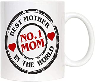 no.1 mom best mom in the world mug