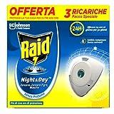 Raid Night & Day Ricarica, Antizanzare Elettrico, Repellente Zanzare Inodore a...