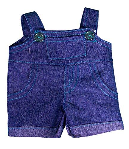 Blaue Latzhose, Kleid Teddybär Outfit Kleidung, für Teddybären von 20 cm bis 25 cm von Kopf bis Fuß, Taille 23cm-28cm
