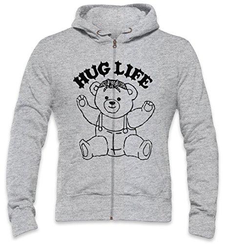 The Hug Life Thug Life Mens Zipper Hoodie Large