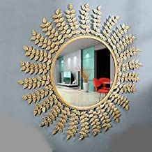 Furnish Craft Unique Designed Wall Mirror for Home Decor, Living Room, Bedroom, Bathroom - 24 Inches (Upgraded)
