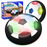 Kids Toys Hover Soccer Ball (Set of 2), Battery Operated Air Floating Soccer Ball with LED Light and Soft Foam Bumper, Indoor Outdoor Hover Ball Game Gifts for Age 2 3 4 5 6 7 8-16 Year Old Boys Girls