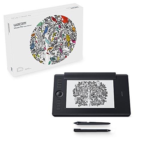 Wacom PTH-660P-N Intuos Pro Paper M Grafik-Tablet & Stift (DE/EN/PL/SE-Sprachversion) schwarz