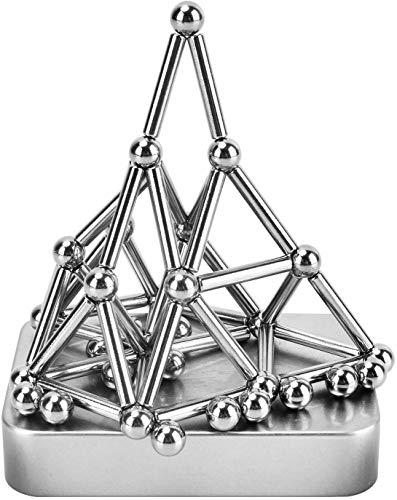 Antiniska - 70 Piezas de Bloques de construcción magnéticos, Juguetes magnéticos para Fidget, Palo magnético y Bolas para Adultos, Alivio del estrés y Entrenamiento Cerebral
