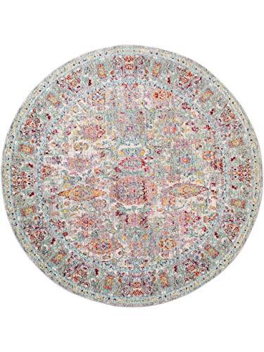 benuta Visconti Rug Multi-Coloured / Grey Diameter 120 cm Round