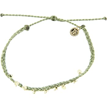 Pura Vida Silver or Gold Mini Braided Anklet - Waterproof, Artisan Handmade, Adjustable, Threaded, Fashion Jewelry for Girls/Women