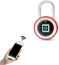 Vingerafdruk hangslot, ip65 Waterdicht Ultra Light One Touch Open Vingerafdruk Lock Met Usb Opladen voor, Koffer, geen Pro...