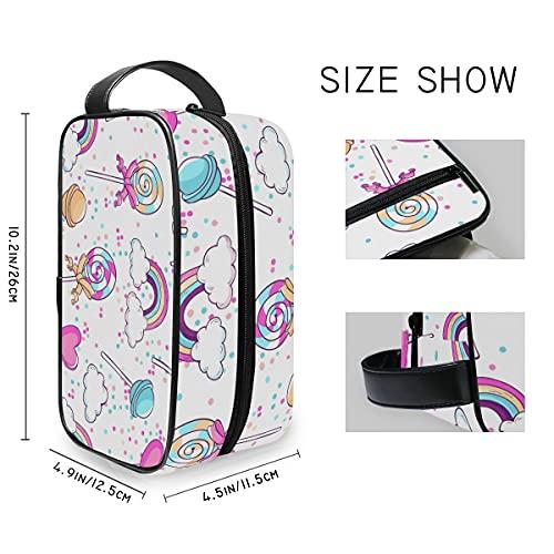 MALPLENA Neceser bolsa de aseo Rainbow Lollipop grande cosmético maquillaje organizador de viaje para hombres y mujeres