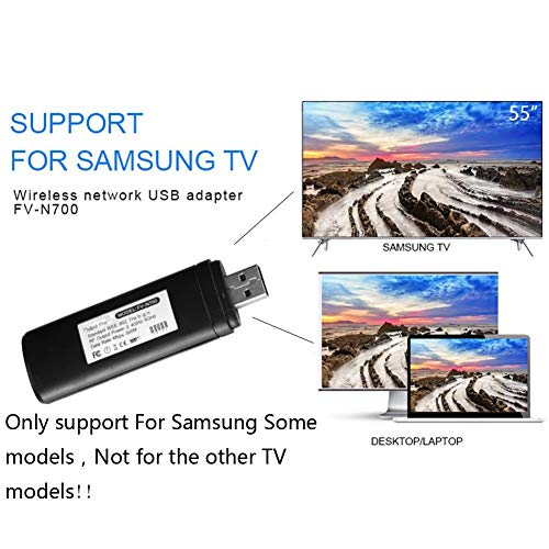 Bluesees TV Wireless Wi-Fi Adattatore USB, 802.11a/b/g/n2.4ghz -5GHz 300m Rete Wireless USB WLAN LAN Adattatore per Samsung Smart TV WIS12ABGNX WIS09ABGN