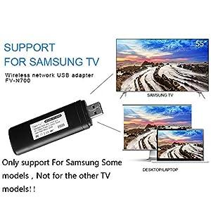 Bluesees WIS09ABGN - Adaptador inalámbrico para TV (USB, Wi-Fi, 802.11a/b/g/n2,4 GHz, 5 GHz, 300 m), color negro