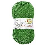 Melissa Hilo 100% Acrilico Ovillo de Lana (115m 100g * 1=50g * 2) Premium para DIY Tejer y Ganchillo, Certificado OEKO-TEX Standard 100,Agujas Talla 5(1/2)-6(1/2),Verde 54,Enviado desde Europa