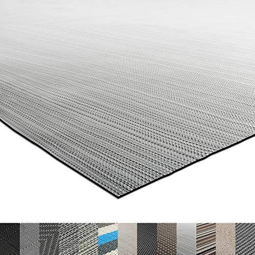 casa pura® Indoor- und Outdoor-Bodenbelag Bologna | kunstvoll gewebter Terrassenteppich | als Outdoor Teppich Meterware oder Läufer für innen | 40 Größen (60x100cm)