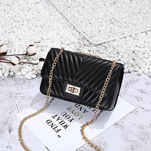 lijn de borduurwerk handtas schouderketting kleine tas vierkant mini stijl ventilator tas